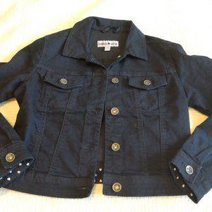 Cropped Denim Jacket (Navy)